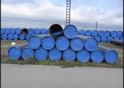Carbon steel pipes, helically or longitudinally welded